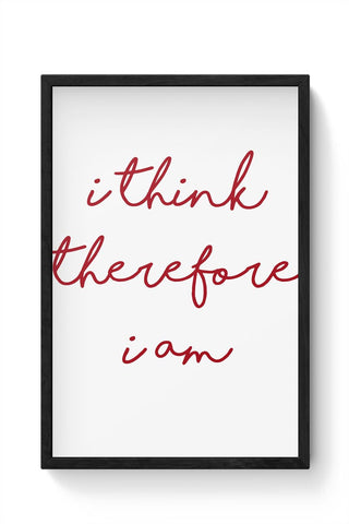 thinking man Framed Poster Online India