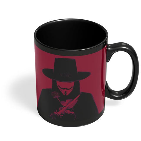 v for vendetta  Black Coffee Mug Online India