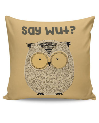 WTF owl Cushion Cover Online India
