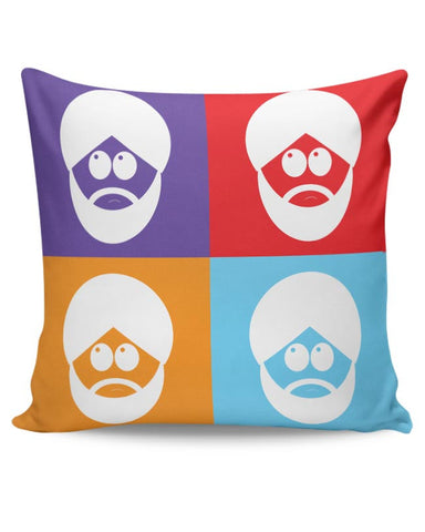 Sikh Park Minimal  Cushion Cover Online India