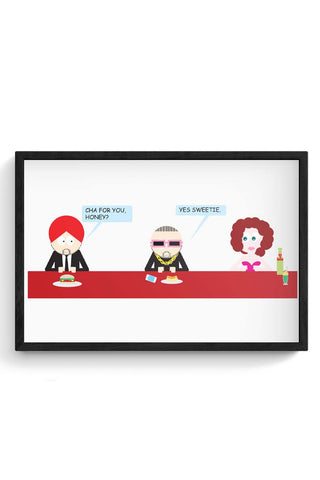 Cha For You Honey | Funny Framed Poster Online India