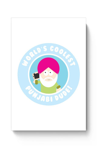 World'S Coolest Punjabi Dude Poster Online India