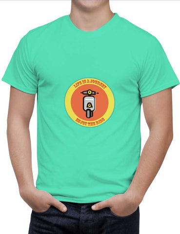 Buy Life Is A Journey!! Woman T-Shirts Online India | Life Is A Journey!! T-Shirt | PosterGuy.in