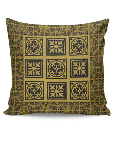 golden blocks Cushion Cover Online India