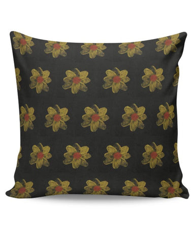 golden flowers Cushion Cover Online India