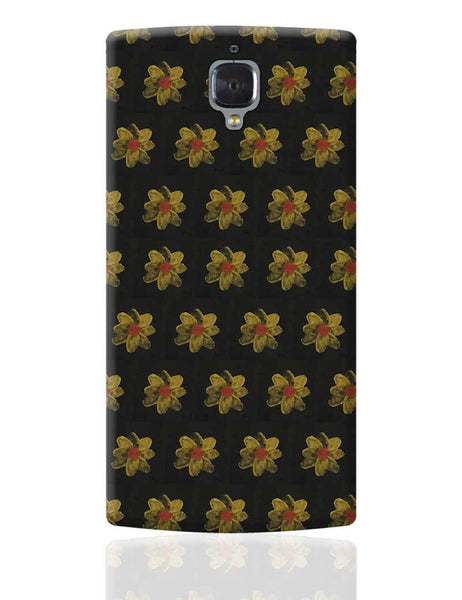 golden flowers OnePlus 3 Cover Online India