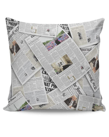 newspaper print Cushion Cover Online India