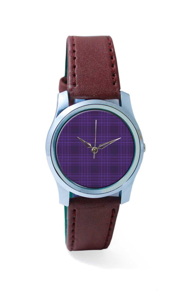 Women Wrist Watch India | purple checks Wrist Watch Online India