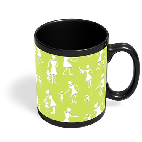 warli kids Black Coffee Mug Online India