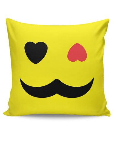 love sight man mustache Cushion Cover Online India