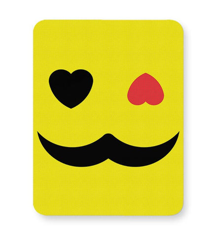 love sight man mustache Mousepad Online India