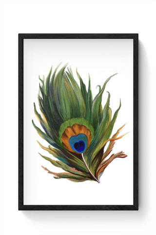 Peacock Feather Framed Poster Online India