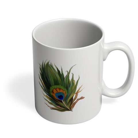 Peacock Feather Coffee Mug Online India