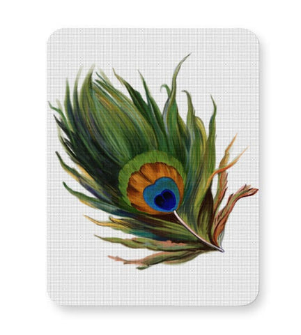 Peacock Feather Mousepad Online India