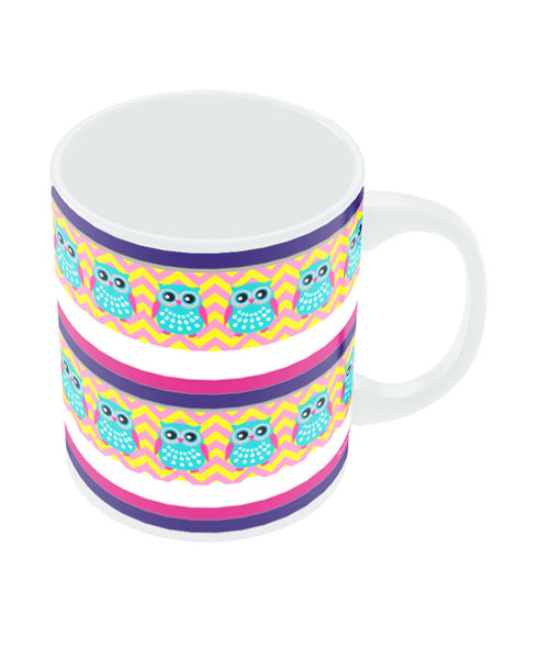 Owl Wrap Around Art Mug