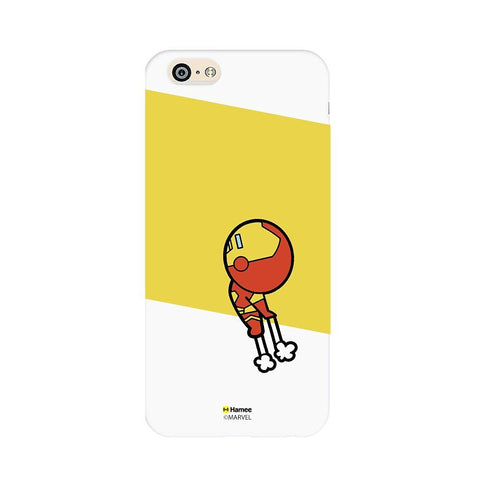 Cute Flying Iron Man White iPhone 5 / 5S Case Cover