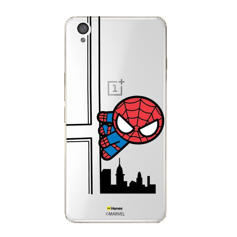 Cute Spiderman Building Clear Oneplus X Case Cover