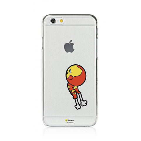 Cute Flying Iron Man Clear iPhone 6 Plus / 6S Plus Cover Case