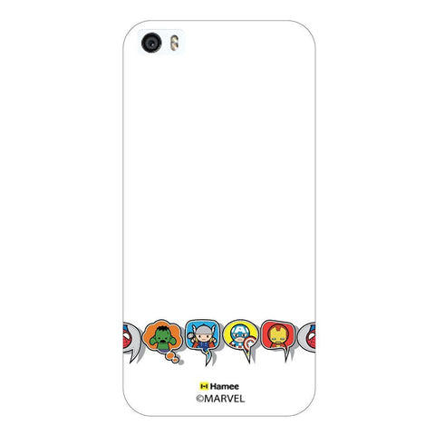 Cute Avengers Speech Bubble White iPhone 6 Plus / 6S Plus Case Cover