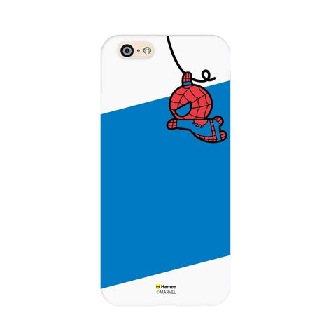 Cute Swinging Spiderman White iPhone 6 Plus / 6S Plus Cover Case