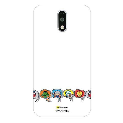 Cute Avengers Speech Bubbles  Moto G4 Plus Case Cover