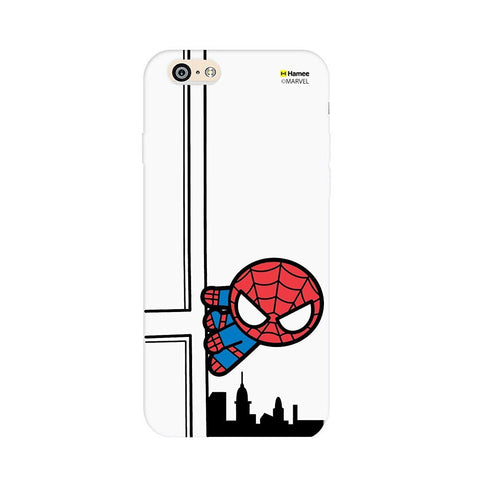Cute Spiderman Building White iPhone 5 / 5S Case Cover