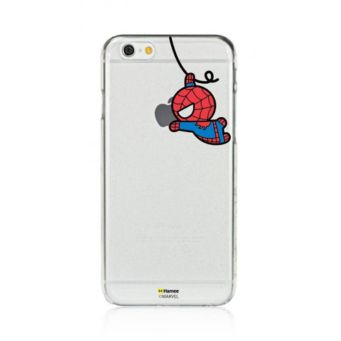 Cute Swinging Spiderman Clear iPhone 6 Plus / 6S Plus Cover Case