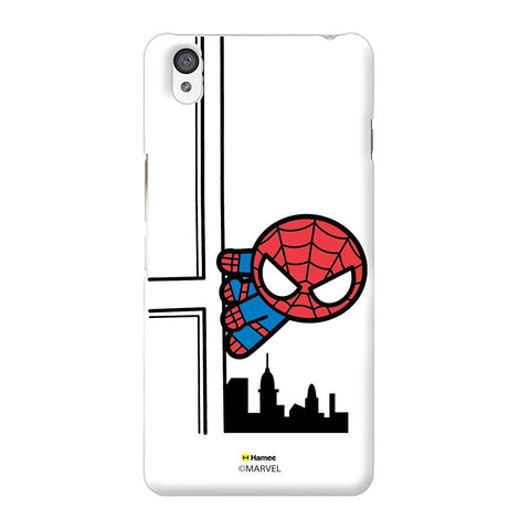 Cute Spiderman Building White Oneplus X Case Cover
