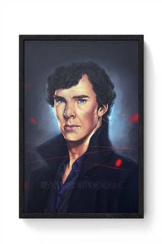 Sherlock digital painting Framed Poster Online India