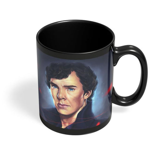 Sherlock digital painting Black Coffee Mug Online India