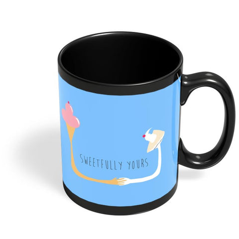 Sweetfully Yours Black Coffee Mug Online India