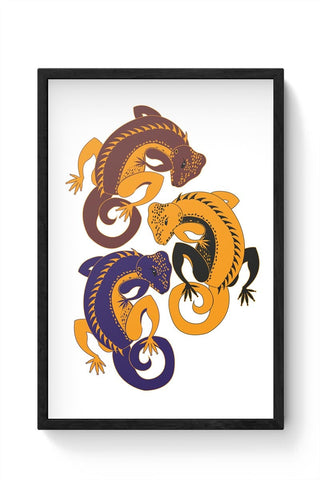 Gecko Framed Poster Online India