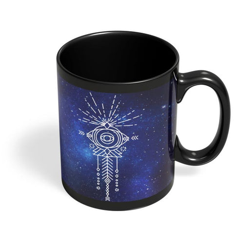Sacred eye abstract pattern Black Coffee Mug Online India