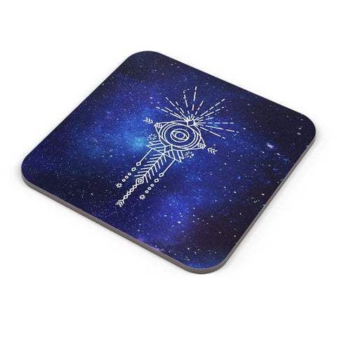 Sacred eye abstract pattern Coaster Online India