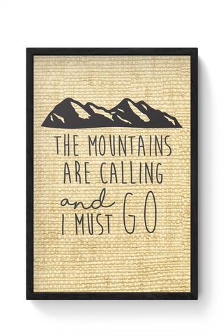 Wanderlust Mountains Framed Poster Online India