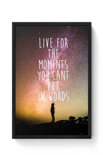 Awesome Stars Wanderlust Quotes  Framed Poster Online India