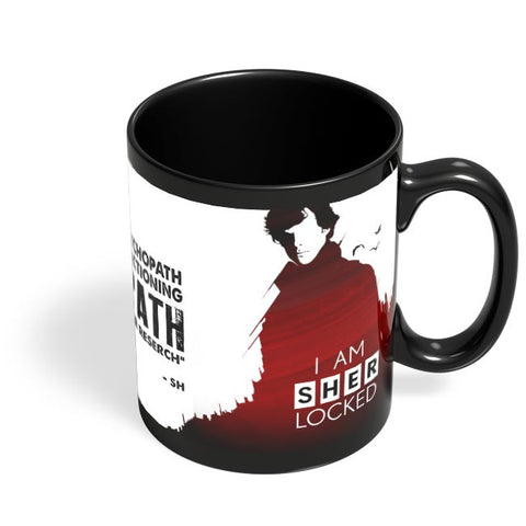 I am sherlocked Black Coffee Mug Online India