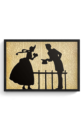 Pride and Prejudice Love Silhouette Poster Framed Poster Online India