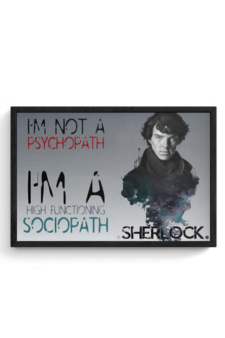Sherlock, the Sociopath Framed Poster Online India