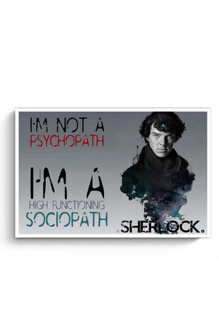 Buy Sherlock, the Sociopath Poster