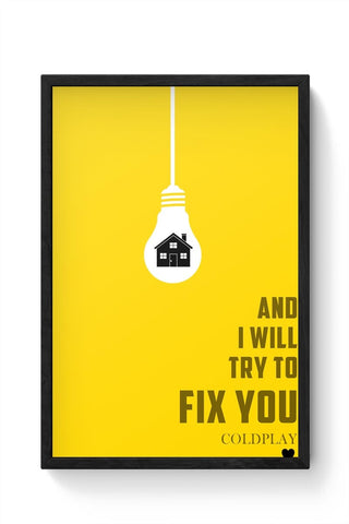 COLDPLAY - FIX YOU Framed Poster Online India
