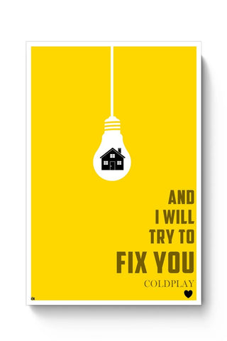 COLDPLAY - FIX YOU Poster Online India