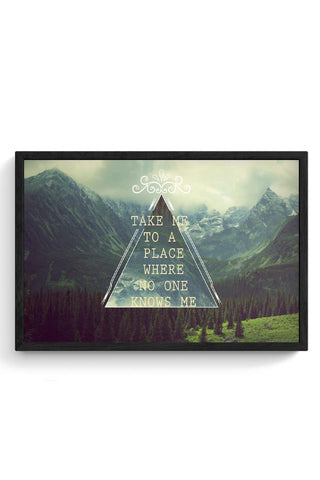 HIPSTER THOUGHTS Framed Poster Online India