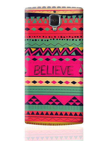 #BELIEVE OnePlus 3 Covers Cases Online India