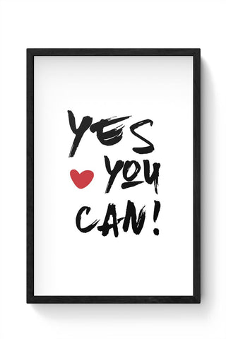 YES YOU CAN ! Framed Poster Online India