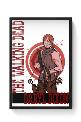 The Walking Dead Daryl Dixon Framed Poster Online India