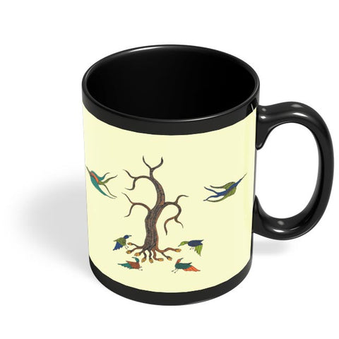 Gond Art Black Coffee Mug Online India
