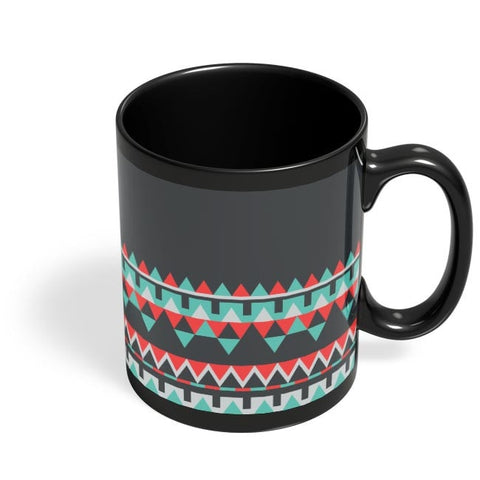 Abstract Border Black Coffee Mug Online India