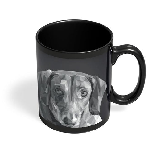 Cute Dachshund Dog Black Coffee Mug Online India