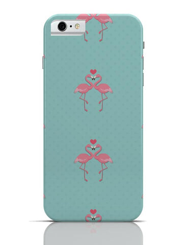 Pink Flamingo - Blue Background iPhone 6 / 6S Covers Cases